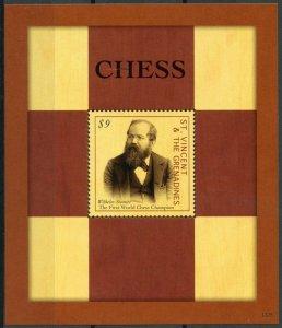 St Vincent & Grenadines Stamps 2013 MNH Chess Wilhelm Steinitz Sports 1v S/S