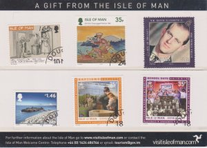ISLE OF MAN 6 Stamp Souvenir  - See Scan
