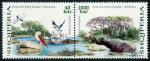 HERRICKSTAMP NEW ISSUES ALBANIA Tourism 2017 Pair (Birds)