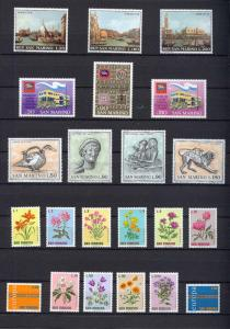 1971 - SAN MARINO - Complete year set - Scott #746 and others - MNH**