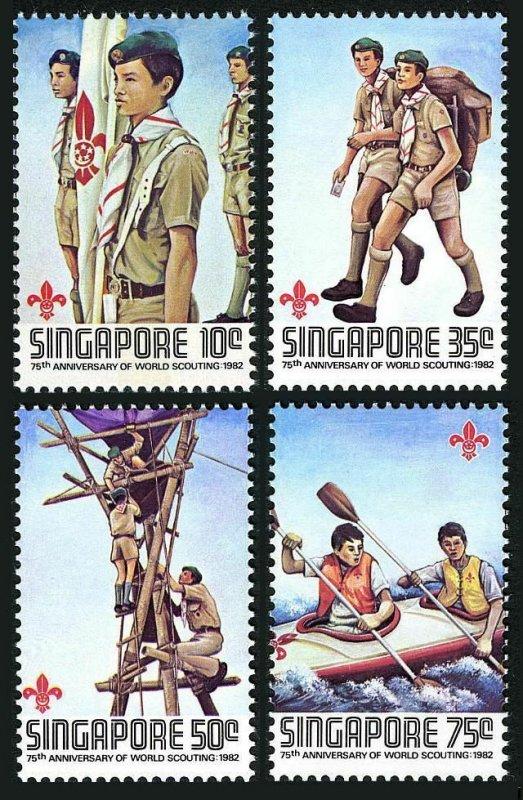 Singapore MNH 404-7 Scouting 1982