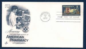 UNITED STATES FDC 8¢ Pharmacy 1972 Artcraft