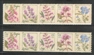 4505-9 & 4513-17 Herbs From Pane & Roll Mint/nh FREE SHIPPING