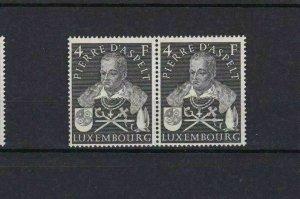LUXEMBOURG 1953 PIERRE D`ASPELT MNH STAMP PAIR  CAT £32  REF 4892