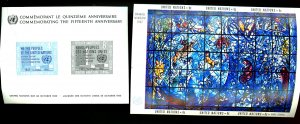 UNITED NATIONS #85, 179 SET OF 2 SOUVENIR SHEETS MNH