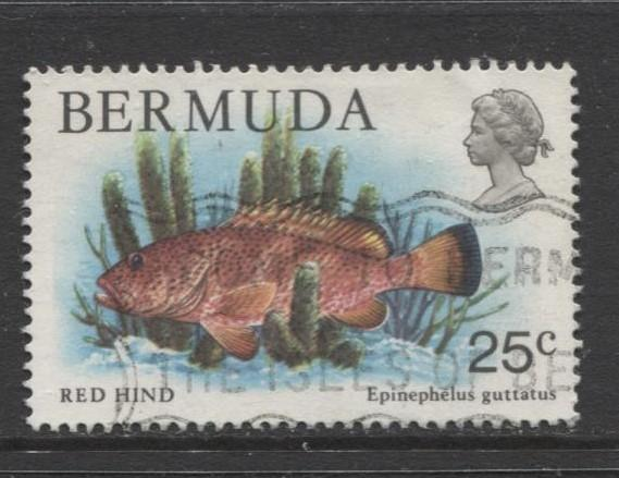 Bermuda - Scott 372 - Birds, Reptiles & Fish -1978 - FU- Single 25c Stamp