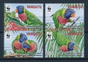 [53535] Vanuatu 2011 Birds Vögel Oiseaux Ucelli WWF Massena Lorikeet MNH