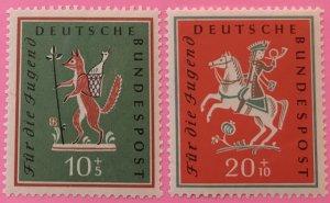 Germany B360-1 MNH SCV $3.55 fox, horse
