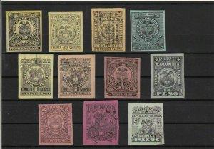 Colombia 1891-1906 Revenue Stamps Ref 15478