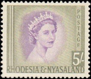Rhodesia & Nyasaland #150-153, Incomplete Set(4), 1954-1956, Hinged