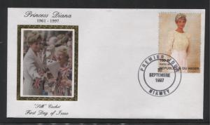 STAMP STATION PERTH Niger #944-5 CTO FDC Princess Diana Silk Cachet