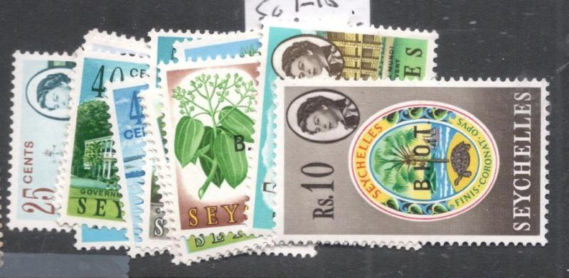 British Indian Ocean Territory On Seychelles SG 1-15 MNH (5dgz)