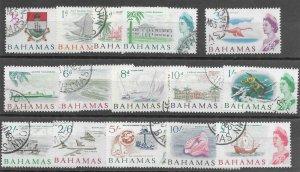 Bahamas #252-266 Used - Stamp Set - CAT VALUE $25.65
