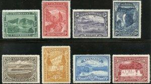 TASMANIA  SCOTT#86/93  MINT HINGED REMNANTS  SCOTT VALUE $239.00