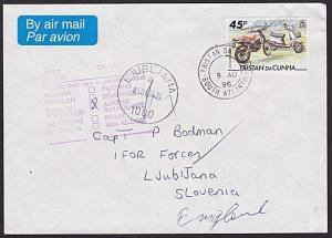 TRISTAN DA CUNHA 1996 cover to Slovenia undelivered and returned to sender..6560