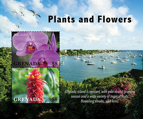 2020/11- GRENADA - PLANTES AND FLOWERS      2V complet set    MNH ** T