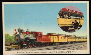 US STAMP POSTAL CARD 1949 CHICAGO RAILROAD POST CARD