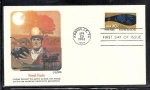 US #2009 Knoxville Worlds Fair Fleetwood cachet unaddressed fdc
