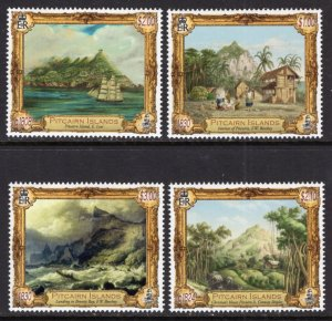 Pitcairn Islands 792-795 Paintings MNH VF