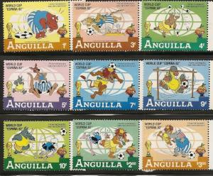 Anguilla 492-501 1982 World Cup Disney set and s.s.