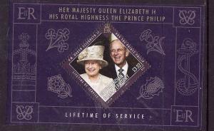 BIOT-Sc#425-unused NH sheet-QEII & Prince Philip-Service-2011-