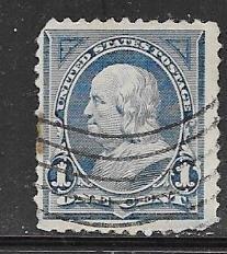 US # 247 1c Franklin, blue. (U)  CV $4.00