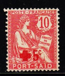 Port Said - #23 Red Cross Overprint - MNG