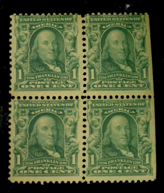 300 MINT Block Fine OG 3 stps NH 1 HR Cat$93.50