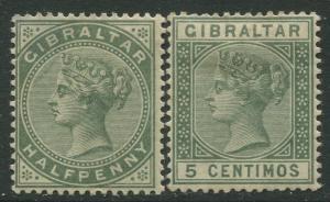 Gibraltar #8,29 QV  MH  Scott CV. $26.00.