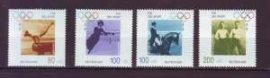 J1789 JLS stamps 1996 mnh germany set/4 #b797-80 sports