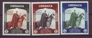 J21205 Jlstamps 1934 italy cyrenaica part of set mh #59-60,64 horse rider