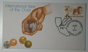 STANPEX Modesto CA 1979 Intl Year of Child Philatelic Expo marble cachet 1772