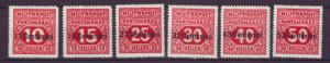 J21638 Jlstamps 1918 italy part of set mh #nj2-7 occupation