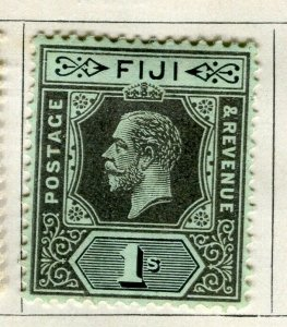 FIJI; 1912 early GV issue fine Mint hinged 1s. value