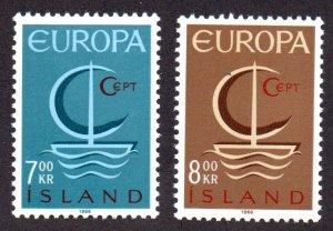 ICELAND 384-5 MNH SCV $4.50 BIN $2.70 EUROPA
