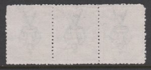 Australia Sc#5 Used - Inverted Watermark - Strip of 3