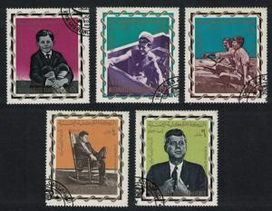 Yemen John F Kennedy Commemoration 5v 1965 CTO SG#R63-R67