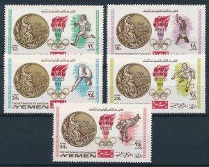 1968 Yemen Kingdom 620-24 1968 Olympic Games in Mexiko 12,00 €
