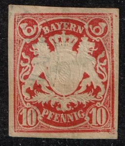 GERMANY STAMP BAVARIA BAYERN 10 P USED STAMP