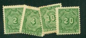 Paraguay 1904 #J1 - J4 MH SCV (2018) = $4.00