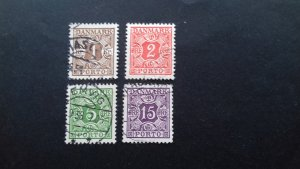 Denmark Postage Due Used