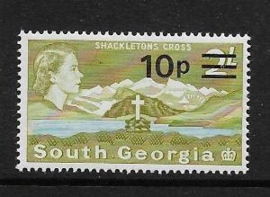 SOUTH GEORGIA, 27, MNH, SURCHD, CROSS