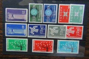 Turkey 1959 1960 1961 1962 1963 Europa sets MNH