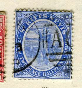 ST.KITTS; 1905 early Ed VII issue fine used Columbus issue 2.5d. value
