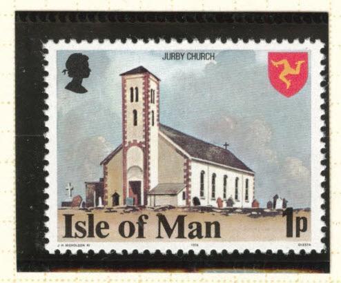 Isle of Man Scott 114a MNH** perf 14.5 variety