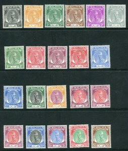 KELANTAN-1951-5  A mounted mint set of 21 Sg 61-81