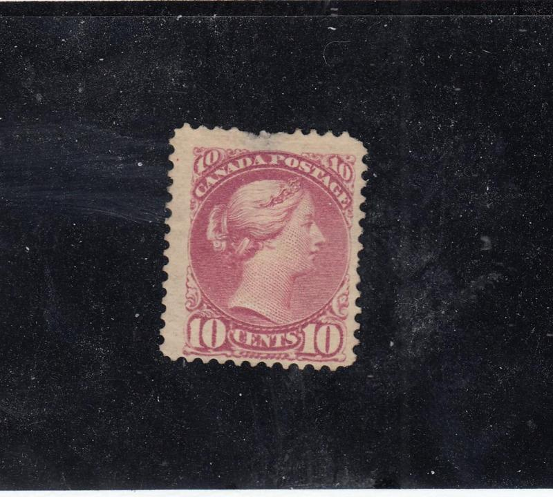 CANADA # 40a FVF-MH 10cts (Thin) CAT VALUE $500