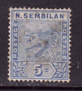Malaya Negri Sembilan-Sc#4-used-5c blue Tiger-1891-94-