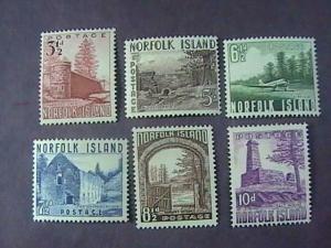 NORFOLK ISLAND # 13-18-MINT/HINGED--COMPLETE SET----QEII----1953