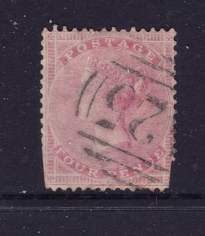 Great Britain a QV 4d rose from the 1855 series used